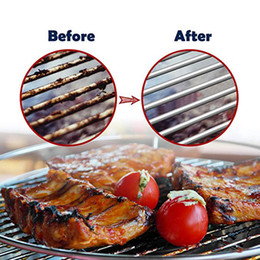 2019 new Stainless Steel Barbecue Grill Cleaner Brush Three Wire Spring With Handle Durable Non stick Cleaning Brushes Outdoor BBQ CleanTool