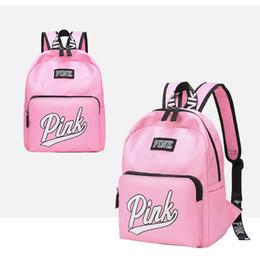 Rosa taschen für die schule online-Liebe Rosa Brief Taschen Rucksack Mädchen Mode Deisgn Outdoor Sports Reise Teenager Schule Rucksack Wasserdichte Umhängetasche