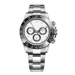 Luxury Mens Watch 116500LN Designer Guarda Montre De Luxe automatico orologio da polso in argento lunetta in ceramica 316L acciaio fibbia pieghevole Adustable da