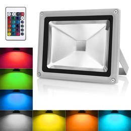 rondella a parete che cambia colore Sconti Faretto a LED 50W RGB Faretto per esterni IP65 Impermeabile a colori Cambiare le luci di sicurezza Dimmable Wall Washer Illuminazione con telecomando