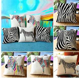 Argentina Throw Pillow Case Cintura Cebra Impresión de rayas Funda de almohada Textil supplier zebra print throw pillows Suministro