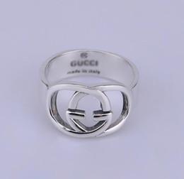 Adornos de plata para las mujeres online-Diseñador nuevo 925 joyería fina de plata antigua de plata antigua hecha a mano hecha a mano de Hip hop para hombres y para mujer anillos de regalo Adornos