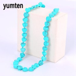 2020 collier pour ado Yumten Turquoise Collier Natural Power Pierre Cristal Femmes Hommes Bijoux Jade Teen Wolf Soy Luna Shadowhunters Prata Tree Of Life collier pour ado pas cher