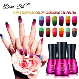 Nail Art Beau gel Chameleon temperatura del cambiamento di colore del gel UV Nail Polish 3 in 1 Mood colori termica cambiamento UV da
