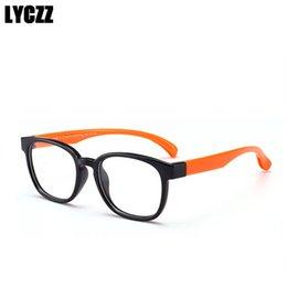 6c74988f2 2019 óculos de grau crianças LYCZZ vintage Estudante De Silicone Moldura de Óculos  Crianças Miopia Prescrição