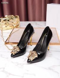 Designer Talons Hauts Rouge Bas Pointu Toe Pumps TOP qualité en cuir verni Stilettos Sexy Slip Robe Chaussures Partie chaussures Size35-41 # b303 ? partir de fabricateur