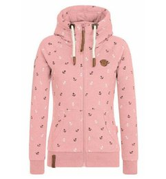 Autumn women hoodie running jacket zipper print hat high collar plus size warm jacket girl pocket gray pink dark casual lady coats cheap girls pink ladies jacket da giacca delle signore dentellare delle ragazze fornitori