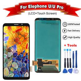 2019 pantalla de teléfono Para Elephone U / U Pro Pantalla LCD y ensamblaje de pantalla táctil Repuestos + Herramientas + Adhesivo + Película para Elephone U / U Pro pantalla de teléfono baratos