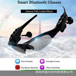 2019 lunettes bleues pas cher Casque stéréo de studio intelligent Lunettes Sport de voiture sans fil Bluetooth Lunettes casque 3D Surround Gaming Headset musique écouteurs écouteur