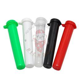 Caixas de armazenamento de papel on-line-94 MM Tubo De Plástico Acrílico Doob Vial À Prova D 'Água À Prova de Odor À Prova de Odor De Vedação De Ervas Recipiente Caixa De Armazenamento de Rolamento Tubo De Papel Caixa de Comprimidos