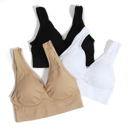 3er Pack sexy Genie BH mit Pads Nahtlose Push-Up-BH plus Größe XXXL Unterwäsche drahtlos schwarz / weiß / nackt von Fabrikanten