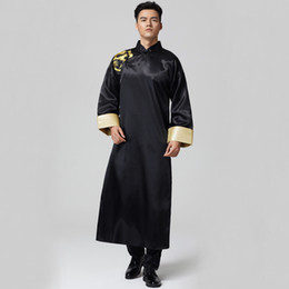 Photo studio Wedding theme Men Clothes Oriental wedding Groomsman costume  long gown Cross talk Show Robe For Oversea Chinese 39f4783d0