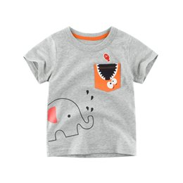 3fb36df03307 kids t shirt elephant Promo Codes - Boys 2 to 8 years summer cotton Tees