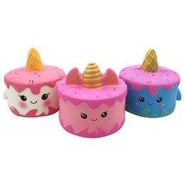 Squishy CutePink Einhorn Spielzeug 11 CM Bunte Cartoon Einhorn Kuchen Schwanz Kuchen Kinder Spaß Geschenk Squishy Langsam Steigenden Kawaii Squishies von Fabrikanten