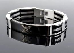 Canada Bracelet pour hommes Noir Or Argent En Acier Inoxydable Femmes Bracelets Brille Dans Le Sombre Bracelet Homme Bijoux Offre