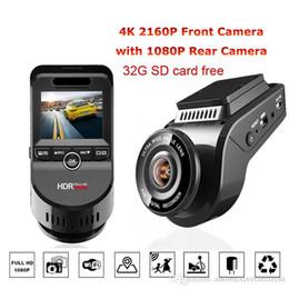 Автомобильная камера fhd онлайн-Автомобильный видеорегистратор Camera Recorder Автоэлектроника Даш камеры T691C 2-дюймовый 4K 2160P / 1080P FHD тире Cam 170 градусов объектив умный новый горячий
