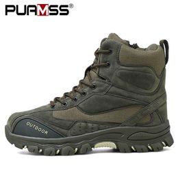 2019 nuovi uomini di combattimento stivaletti in gomma militare stivali da uomo Sneakers Casual Scarpe Outdoor lavoro stivali di sicurezza