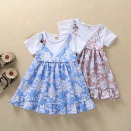 Vestido de princesa de 12 meses online-2019 Baby Girl Summer Dress Princess Child Girls Dress Nuevo vestido de niñas para bebé 12 meses Venta al por mayor Envío gratuito