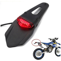2019 luces traseras para bicicletas Motocicleta LED Tail LightRear Fender Universal Rear Fender Back Splash Guard Motocross Dirt Bike Lámpara HHA84 luces traseras para bicicletas baratos