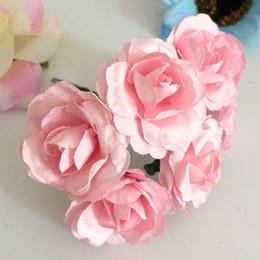 2019 diy hochzeit korsagen 144 stücke 3,5 cm Nachahmung Maulbeerpapier Blumen DIY Künstliche Scrapbooking Rose Bouquet für Girlande Corsage Box Hochzeit Dekoration Gefälschte Pflanze günstig diy hochzeit korsagen