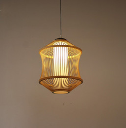 2019 lampadari in tessuto Lampadario giapponese a una testa piccolo creativo nuovo zen cinese sala da tè sala corridoio lampada comodino bar tessuto di bambù lampada LLFA sconti lampadari in tessuto