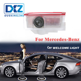 mercedes benz lights Coupons - LED Car Door Welcome Laser Projector Logo Door Ghost Shadow LED Light for Mercedes benz w212 w166 w176 E200 E300 E260 AMG