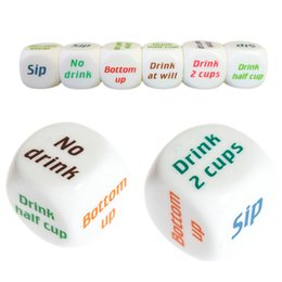 adult dice games Coupons - Playing Drinking Wine Mora Dice Games Adult Fuuny Drink Decider Dice Wedding Party Favor Decor Party Game Hot Sale