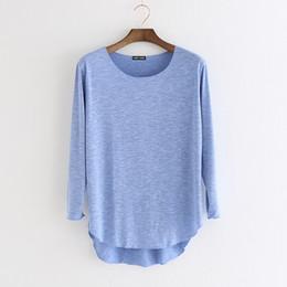 Neue Baumwolle T-shirt Femme Harajuku Langarm T-shirt Frauen Tops Mode Arbeit Blusa Lose T-Shirt Camiseta Mujer von Fabrikanten