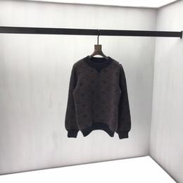 Männer-pullover jacquard online-19 New Art gestrickte Pullover Cotton Doppelseitige Jacquard gestrickter Stoff mit perfekter Qualität Details der für Männer und Frauen # 23q20