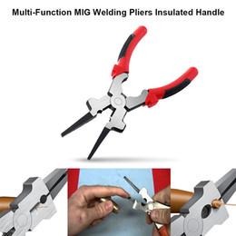 Tochas de corte on-line-210mm boca plana alicate de solda MIG com isolamento de aço carbono para tocha de soldagem Mig fio de corte de ferramentas multiuso