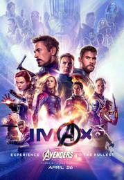 2019 maravilha posters B-1480 4 Endgame Marvel 2019 Filme IMAX Tecido Tecido Cartaz Da Parede Da Lona Decoração 14x21 24x36 32x48 polegada maravilha posters barato