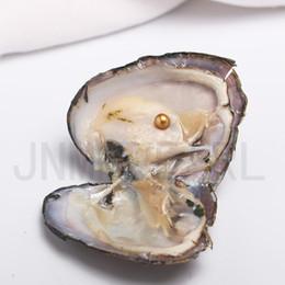 Argentina JNMM 20PCS / Lot Perla de agua dulce Ostra con perla redonda individual 7-8 mm Buena calidad Colores mezclados Accesorios Cuentas Regalo para niños (total 20 perlas) Suministro