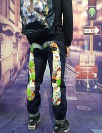 montou clássico Desconto Evisus mens jeans designer de nova mens jeans marca pop jeans calças clássicas homens tendência calças rua hip hop equitação calças de viagem de bicicleta homens jean