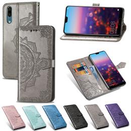 Portefeuille en cuir Flip Phone cas PU + TPU bord avec fentes pour cartes gaufrage impression de luxe fleur pour Iphone XR XS max 8 7 6S 6 Plus pour Samsung ? partir de fabricateur