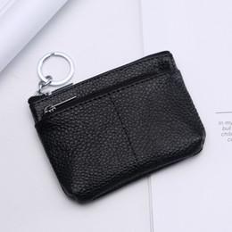 Luxus Echtes Rindsleder Echtes Leder Kurze Brieftasche Mini Reißverschluss Soft Key Taschen Unisex Geldbörse Geschenk Für Geld Tasche Organizer