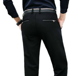 New Arrival Brand Business Casual Pants Men Formal Fit Mid Dress Suit Full