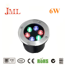 2019 luz subterrânea 6w JML iluminação exterior 6W luzes subterrâneas 12V 24V LED iluminação IP68 luzes à prova d'água para jardim decorações luz subterrânea 6w barato