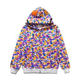 2019 chaqueta de camuflaje moda mujer BAPE Fashion Mens Designer Hoodies Hombres Mujeres Designer Zippe Jacket Bape Mens High Quality Camouflage Print Hip Hop Sudaderas rebajas chaqueta de camuflaje moda mujer