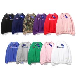 2019 hoodies azuis do golfinho Campeão Carta Impresso hoodies 11 cores Casual Tops Pullover camisola adolescente Manga Longa Bordado de Veludo T-shirt Roupas FJY671