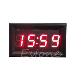 2019 relógios de carro led Venda quente Display LED Relógio Digital 12 V / 24 V Painel Carro Motocicleta Acessório 1 PC Transporte da gota relógios de carro led barato