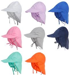 ragazzi cappelli flaps dell'orecchio Sconti Summer Baby Cappello per bambini Bambini Outdoor Collo Ear Cover Anti UV Protezione Beach Caps Bambini Boy Girl Nuoto Cap Flap per 0-5 anni
