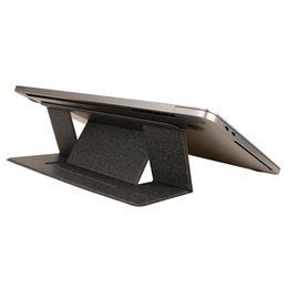 suportes grossos de metal pequeno Desconto Suporte de laptop invisível ultra fino ajustável dobrável tablet suporte notebook suporte para ipad macbook comprimidos pc