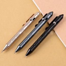 stylo tactique Promotion Stylo tactique portatif de briseur de verre d'outil de cadeau de Noël EDC Self Defense stylo antidérapant avec boîte