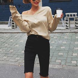 Genayooa Streç Spandex Şort Kadın Kot Şort Pamuk Denim Kısa Feminino Yüksek Bel Diz Boyu Artı Boyutu Kore Hotpants supplier stretch cotton shorts women nereden pamuk şort kadın gergin tedarikçiler