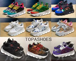 Zapatillas de correr ligeras online-Venta al por mayor Top Chain Reaction sneakes diseñador zapatillas de deporte para hombre de las mujeres que corren el deporte de cuero Casual Shoes Trainer suela ligera con caja