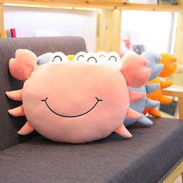2019 cojín kawaii Simulación Kawaii cangrejo juguetes de peluche para niños niños rellenos almohada suave cojín lindos animales marinos juguetes cojín kawaii baratos