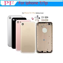 Wholesale Parte posterior Cubierta posterior Carcasa de la batería Puerta trasera Chasis metálico Marco medio para iPhone Plus Blanco Oro Rosa Mate Negro