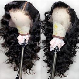 peluca de encaje de seda peruana superior virgen Rebajas Loose Wave 5x4.5 '' Top de seda pelucas llenas del cordón del pelo del bebé peruano indio malasio brasileño virginal del pelo humano del frente del cordón pelucas