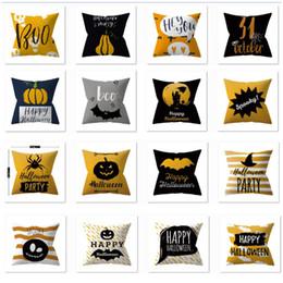 Almohadas de batman online-Fundas de almohada de Halloween Funda Calabaza Fantasma Batman Rayas Funda de almohada para decoración del hogar del coche No Core HH9-2397