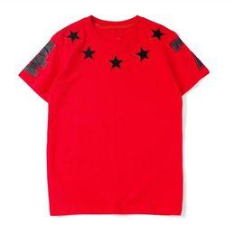 2019 shorts pyrex vermelhos Luxo Mens Designer T Camisas com Estrelas de Moda Marca de Verão T Camisas para Os Homens Nova Chegada de Manga Curta Tops Tees Roupas S-XL